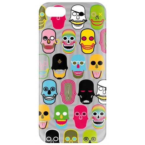 "Coque Iphone 5/5s Pylones ""icover"" skull"