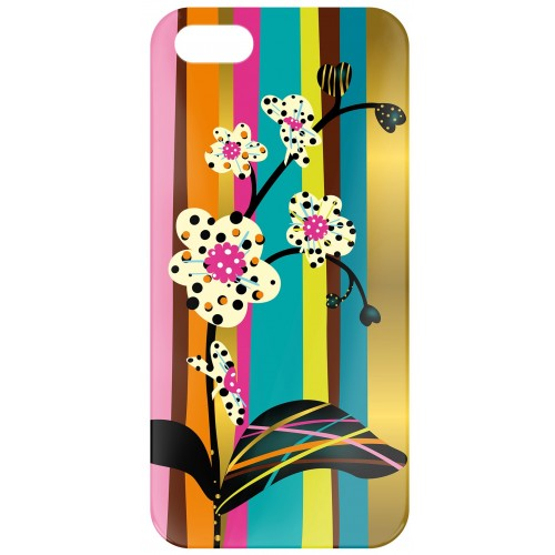 "Coque Iphone 5/5s Pylones ""icover"" orchid"