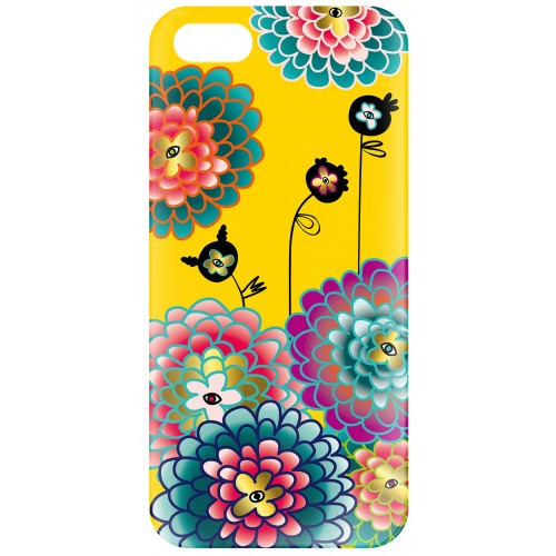 "Coque Iphone 5/5s Pylones ""icover"" dahlia"